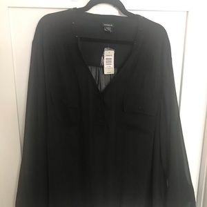 Torrid Black Blouse Size 5 NWT!
